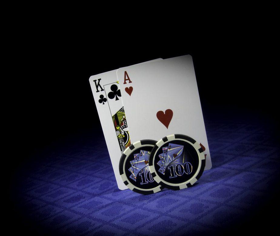 chips n cards blue background black top